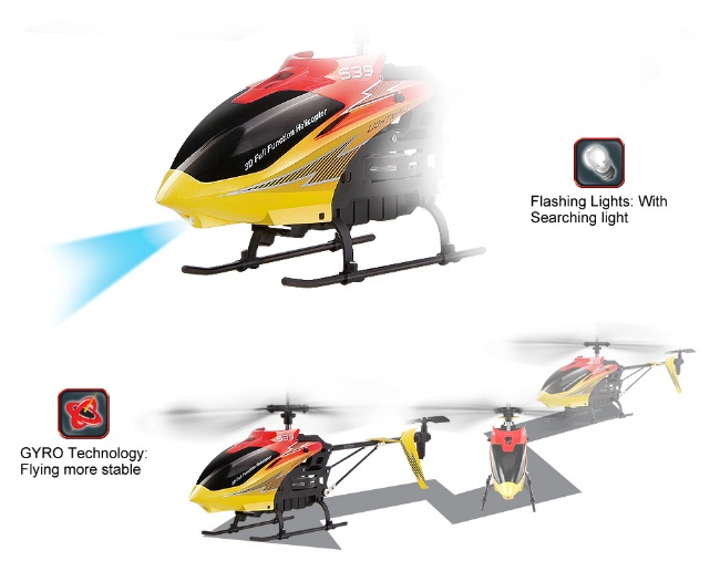 REH-TS39 2.4G 3CH RC Helicopter with Gyro and Flashing lights