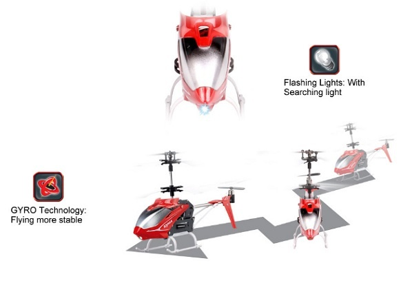 REH-TS5 New 3CH I/R Control Helicopter With Gyro and Flashing lights