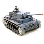1:16 TauchPanzer III Ausf.H Real RC Smoking Battle Tank with Sound-Metal Upgrade Track version