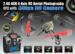 2.4G 4CH 4-Axis RC Aerial Photography UFO with 60fps HD Camera