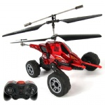 RET821 3.5ch air-land remote control helicopter with missile launching function